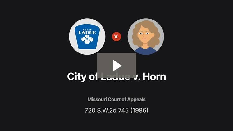 City of Ladue v. Horn