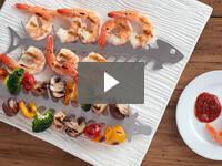 Video for Slide & Serve BBQ Skewers - Set of 2