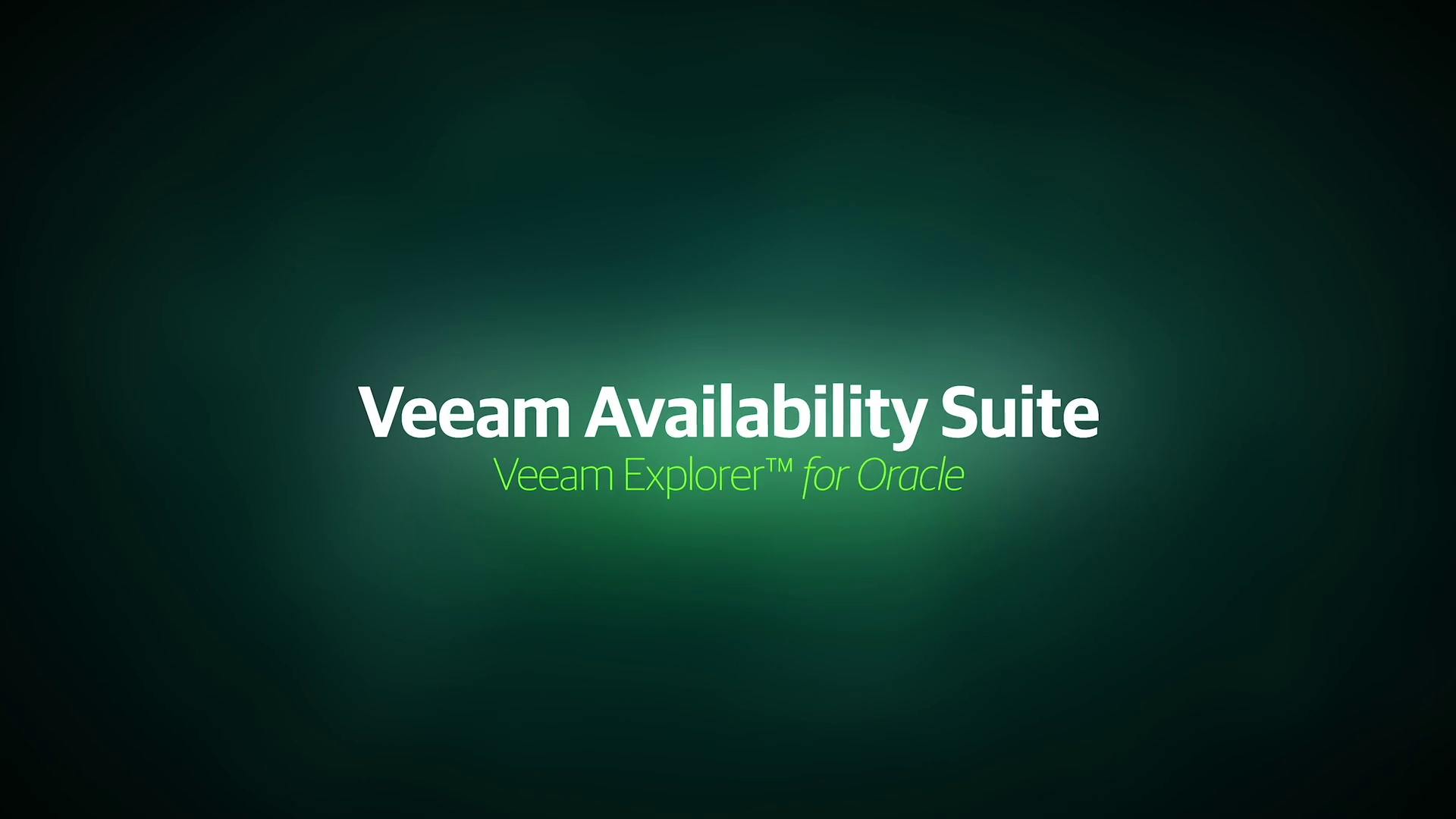 Increase Availability for Oracle databases with Veeam