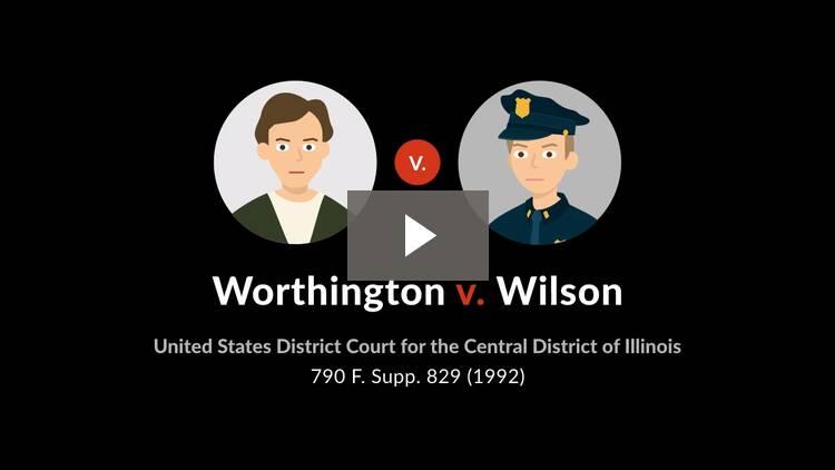 Worthington v. Wilson