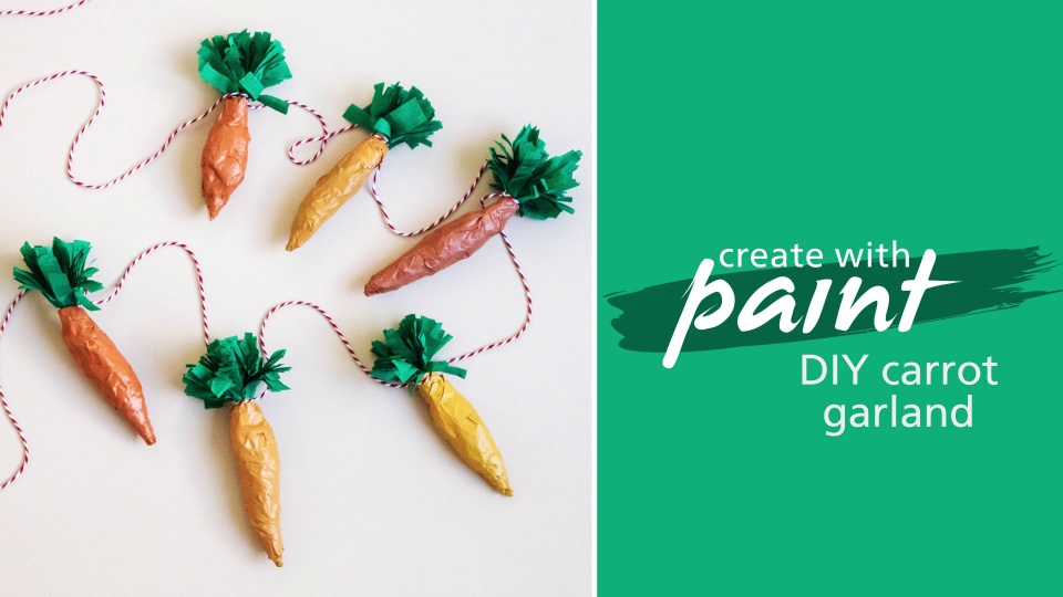 Habitat TV Video: Turn old newspaper into this cute carrot garland