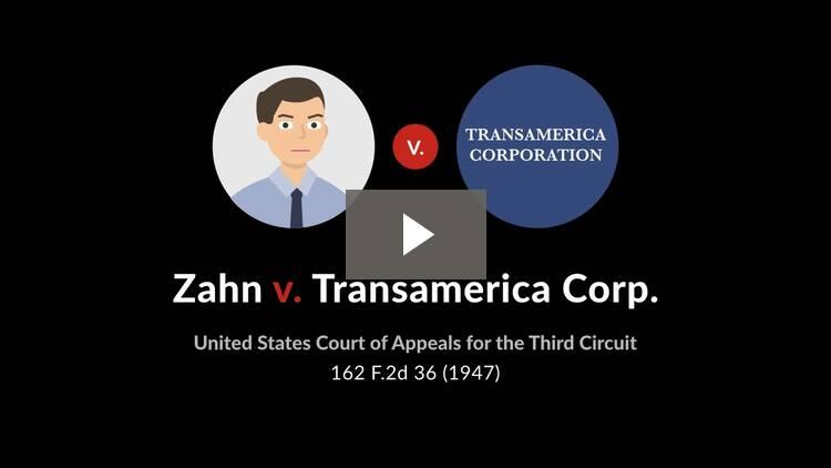 Zahn v. Transamerica Corporation