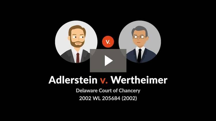 Adlerstein v. Wertheimer
