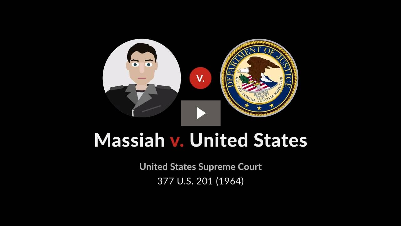 Massiah v. United States
