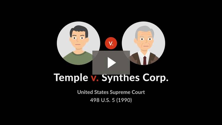 Temple v. Synthes Corp.