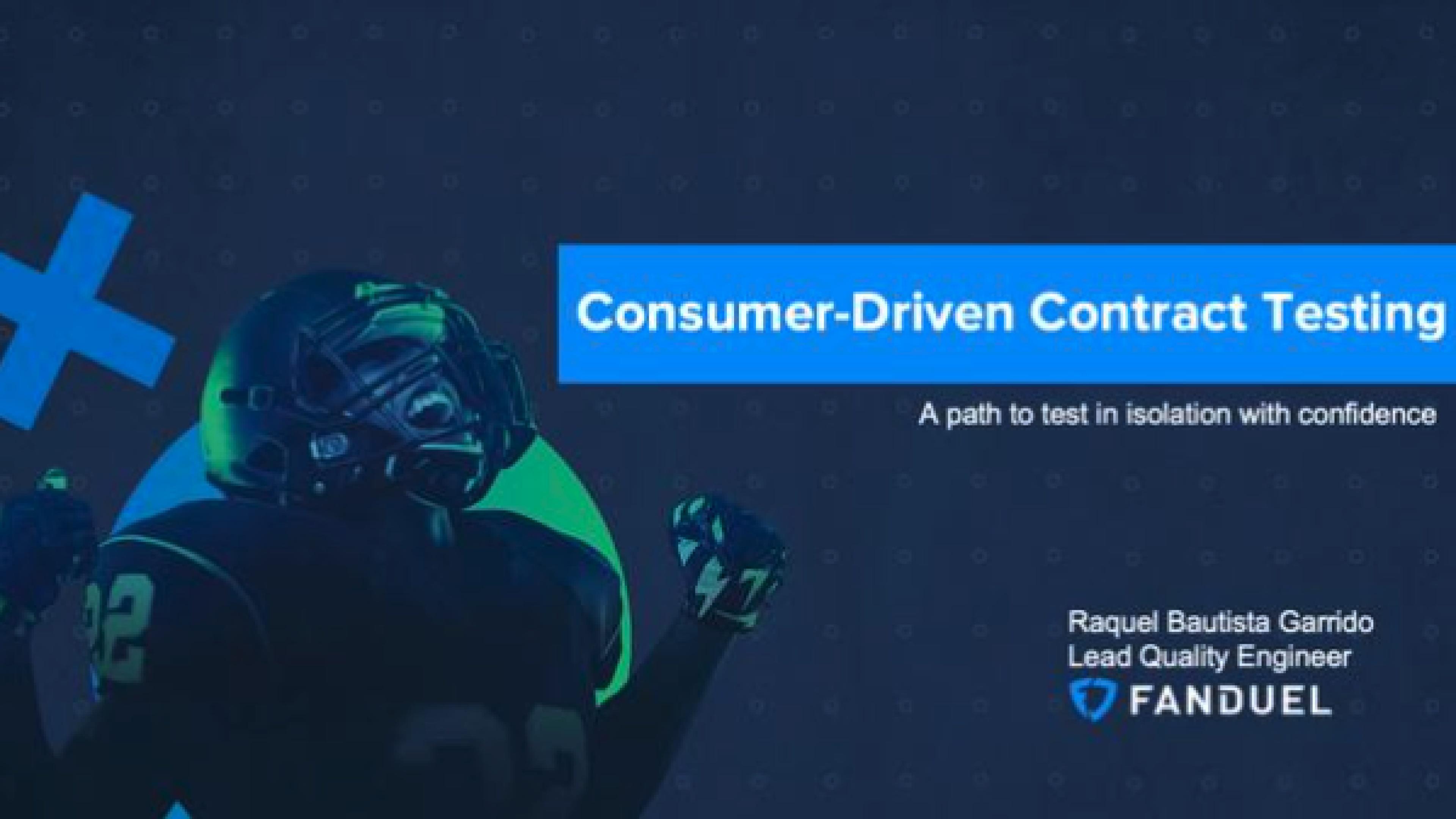 Consumer Driven Contract Testing - Raquel Bautista-Garrido