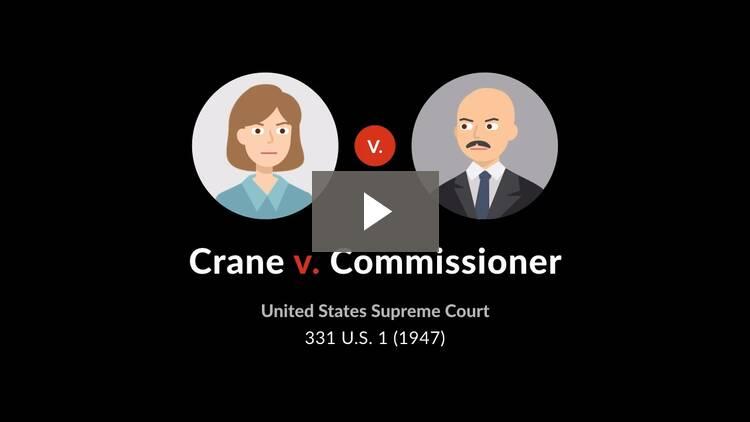 Crane v. Commissioner