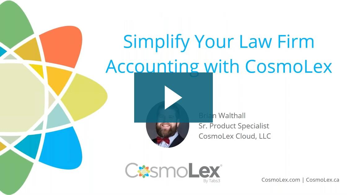 Simplify Your Law Firm Accounting with CosmoLex