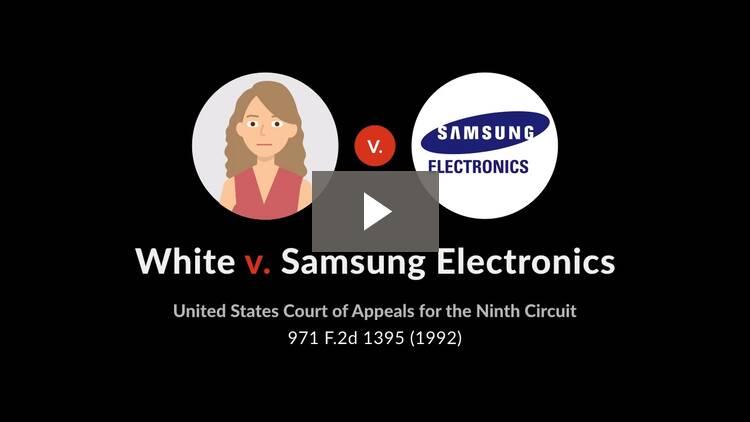 White v. Samsung Electronics America, Inc.