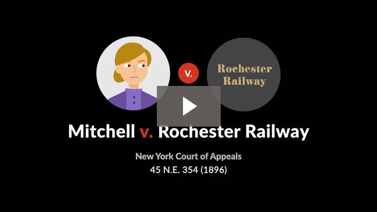 Mitchell v. Rochester Railway