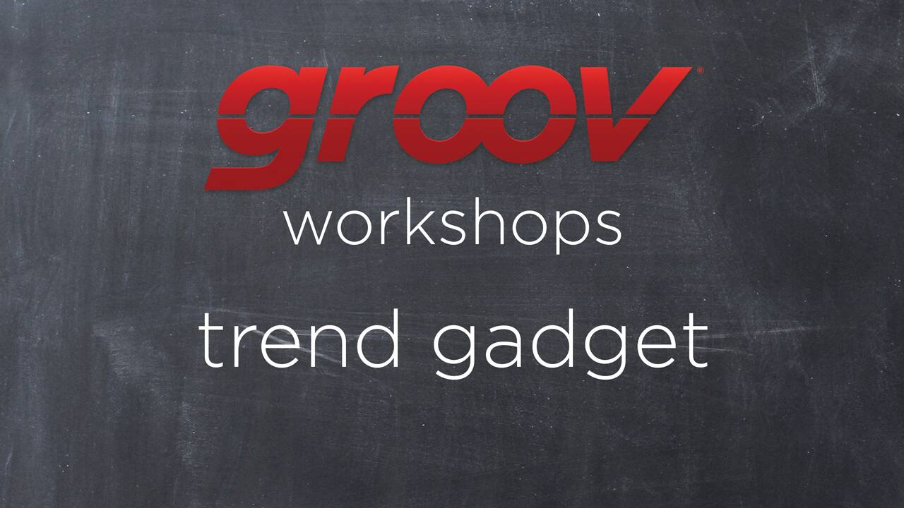 Working with the Trend gadget in groov