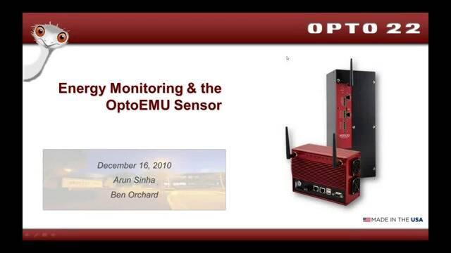 Webinar- Energy Monitoring and OptoEMU Sensor