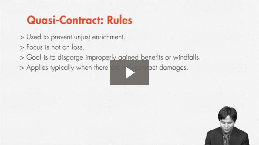 Equitable Damages and Avoiding Injustice: Quasi-Contract and Restitution