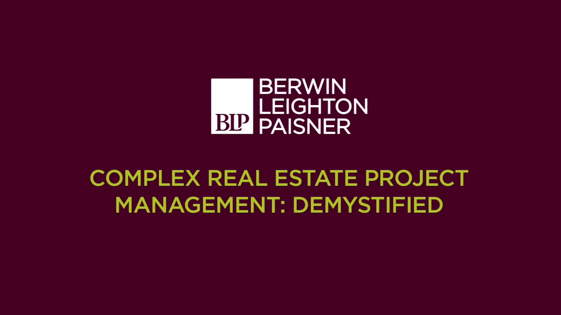 Still image from 'Demystifying real estate project management' video