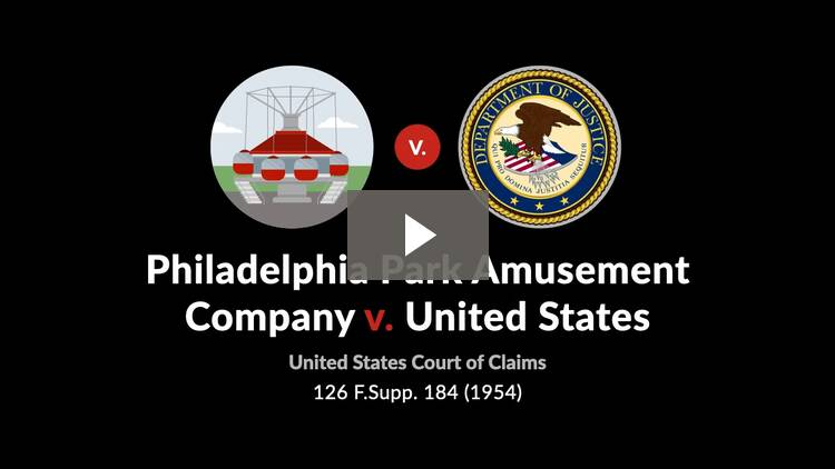 Philadelphia Park Amusement Co. v. United States