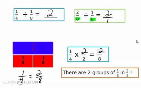 Lesson 7 divide with fractions ready common core divide fractions by fractions using the common denominator ccuart Images