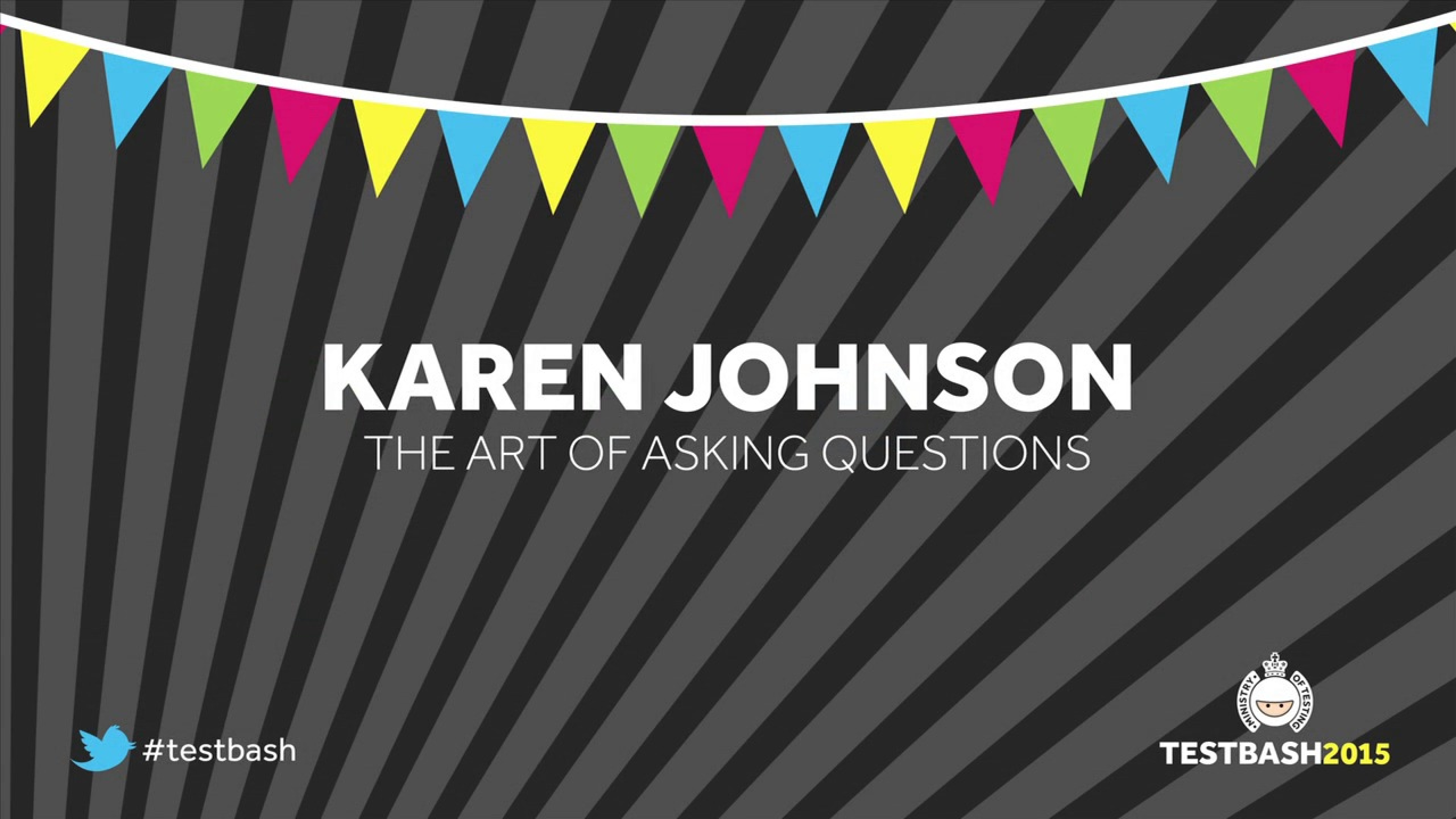 The Art of Asking Questions – Karen Johnson