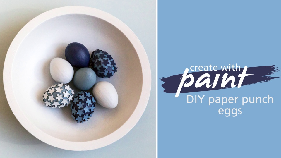 Habitat TV Video: DIY paper punch eggs
