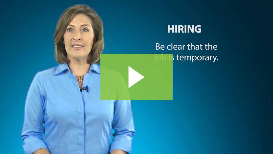 Hiring & Managing Seasonal Employees