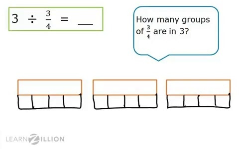 how to use fraction strips to divide fractions