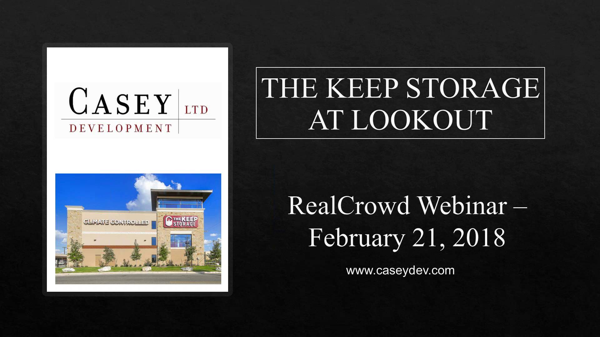 Investment Video - The Keep Storage at Lookout