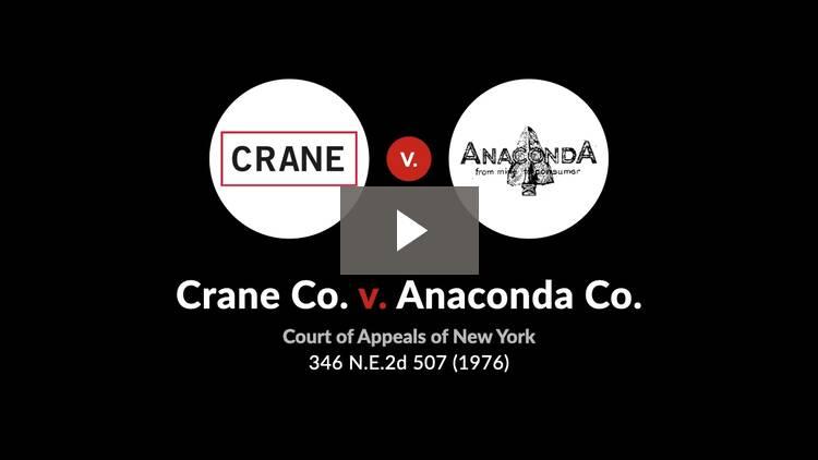 Crane Co. v. Anaconda Co.