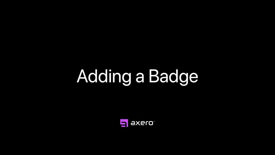 Adding a Badge