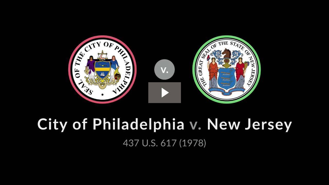 City of Philadelphia v. New Jersey