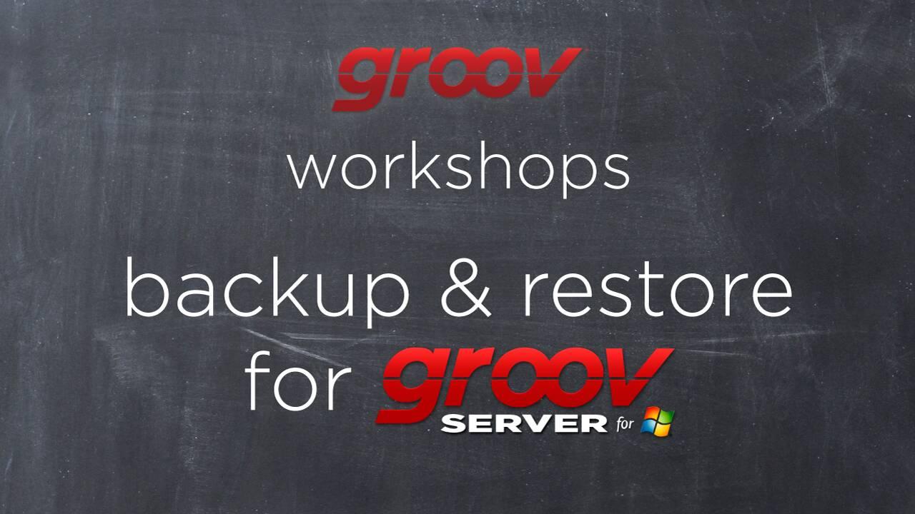 Backup & restore groov Server for Windows