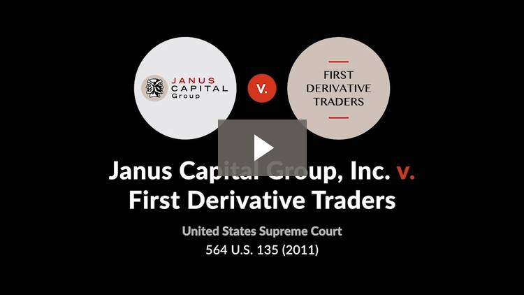 Janus Capital Group, Inc. v. First Derivative Traders