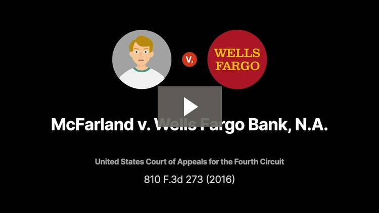 McFarland v. Wells Fargo Bank, N.A.