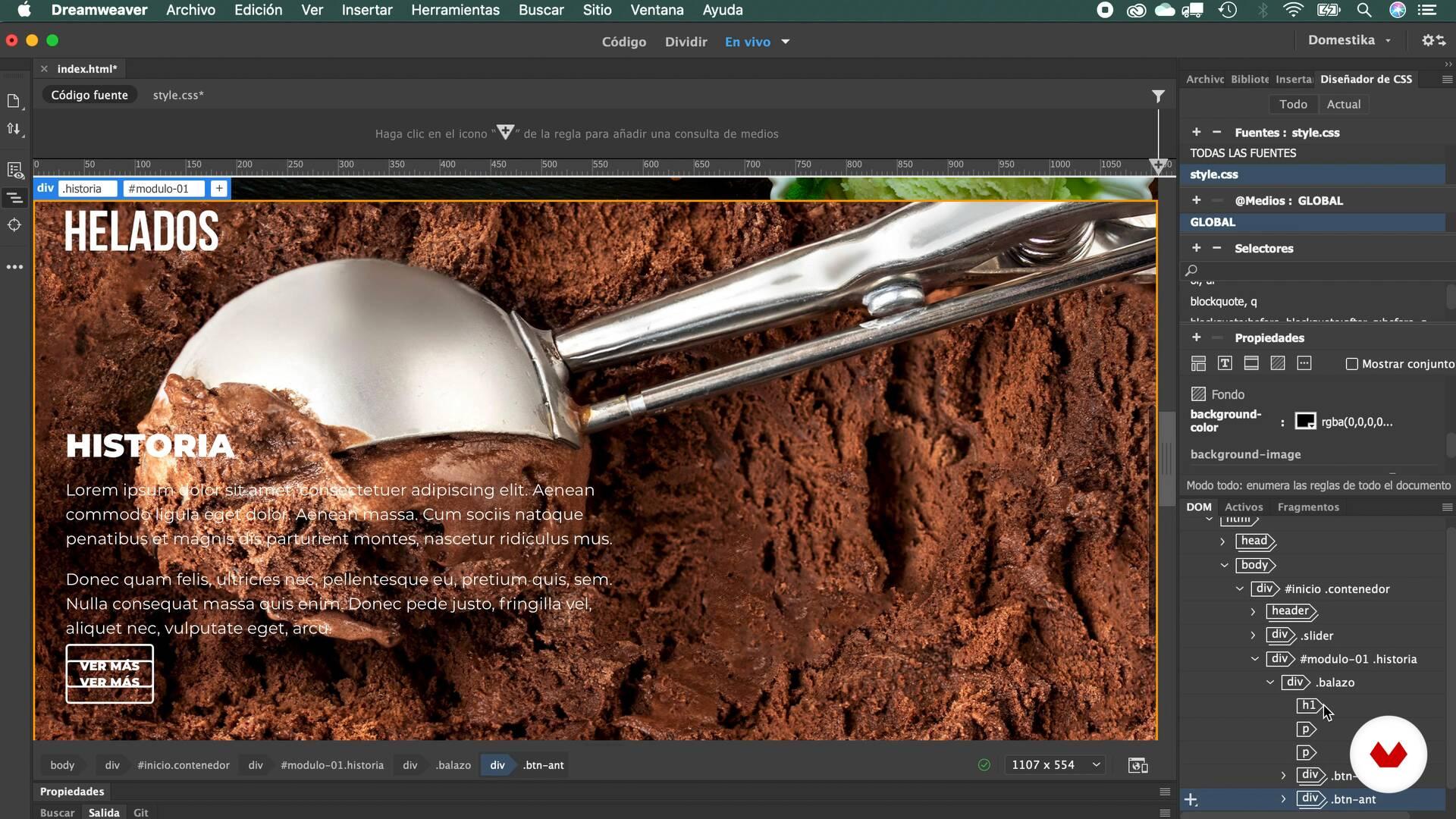 Css Decoration Responsive Web Design With Adobe Dreamweaver Monkylab Domestika