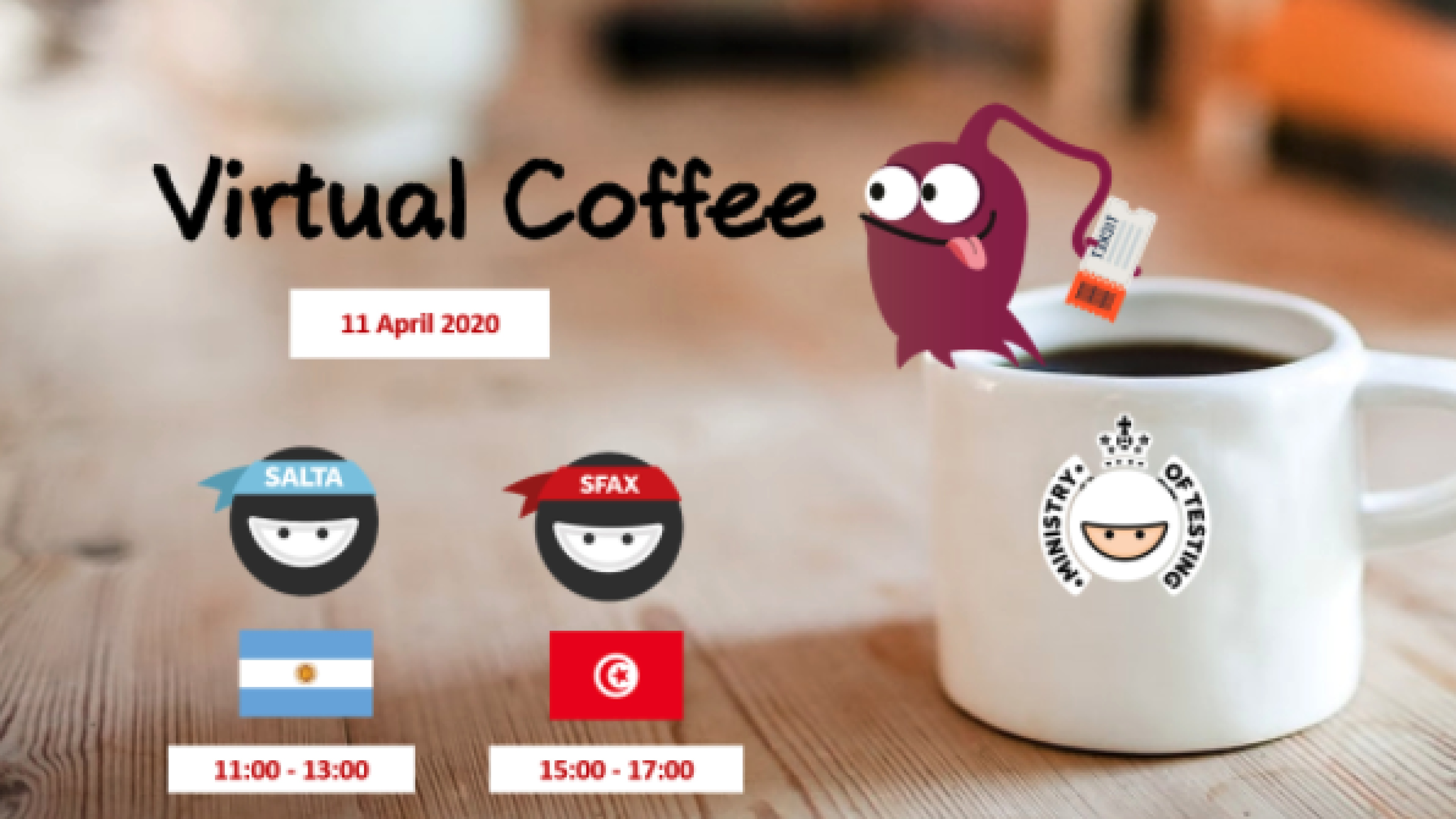 Testers Virtual Coffee with Sfax and Salta