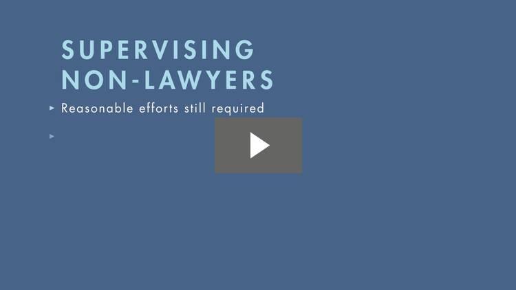 Supervising Subordinate Lawyers