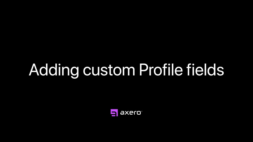 Adding custom Profile fields