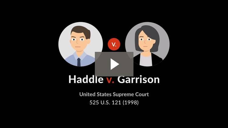 Haddle v. Garrison