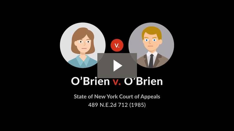 O'Brien v. O'Brien