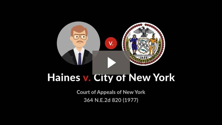 Haines v. City of New York