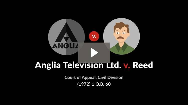Anglia Television Ltd. v. Reed