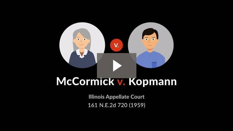 McCormick v. Kopmann