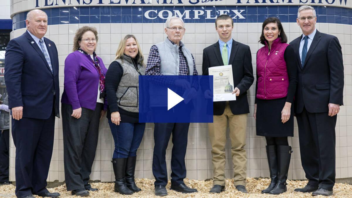 1/7/20 - Farm Show Scholarship Winner, Daniel Rohrbaugh