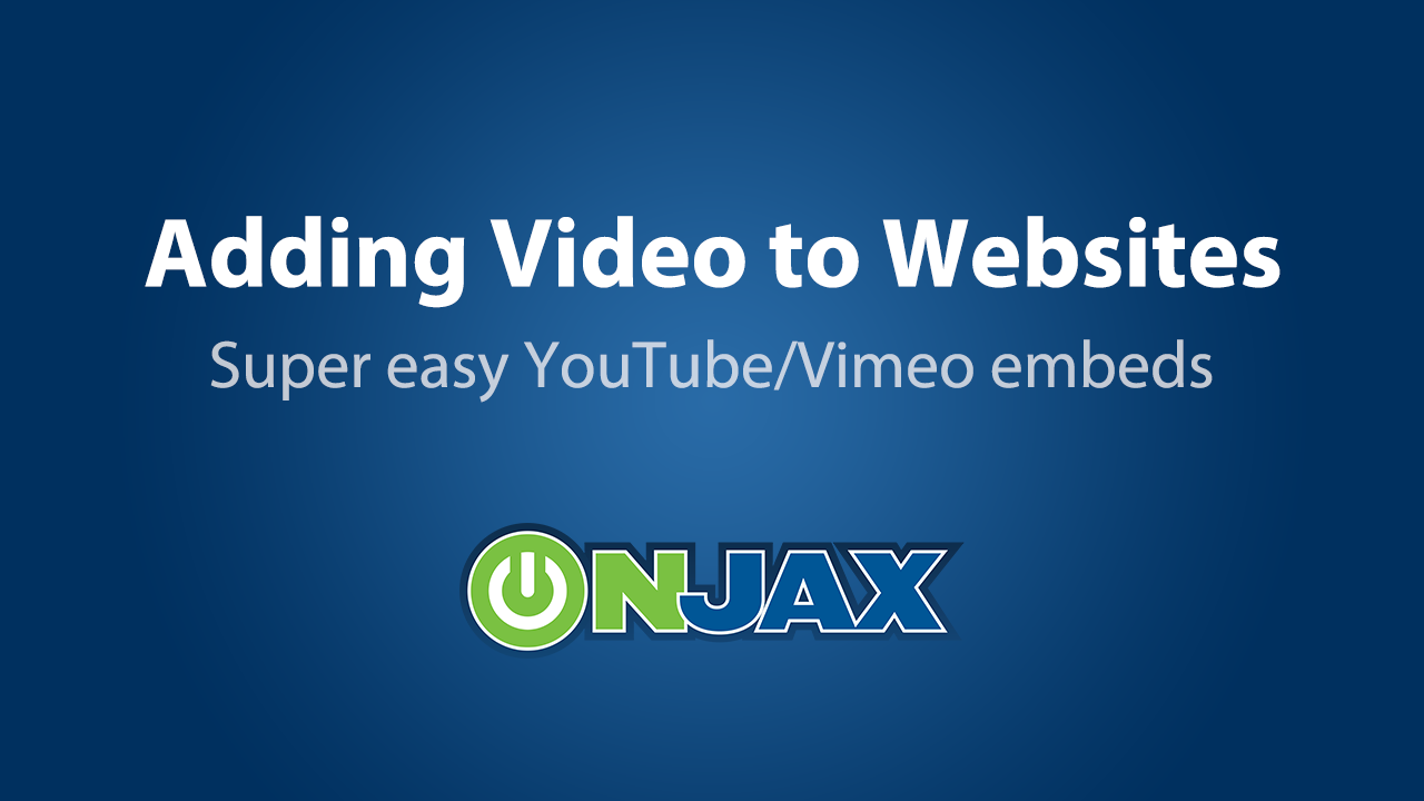 How To Video - Adding Video to your Websites