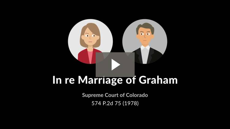 In re Marriage of Graham