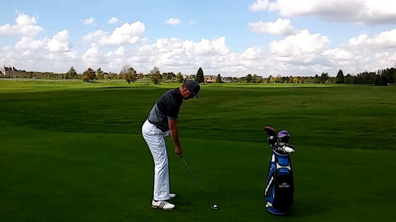 Execute a Full Swing with Ball Below Your Feet