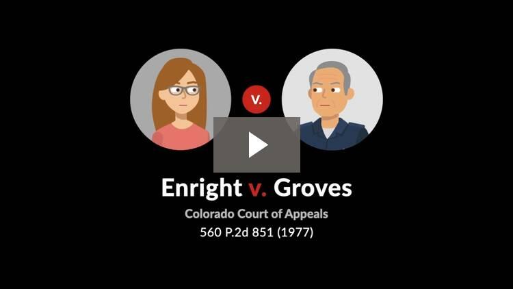 Enright v. Groves
