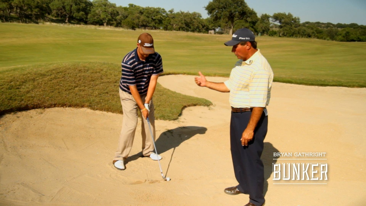 Bunkers: Fairway Bunker Shot on Downhill Lie