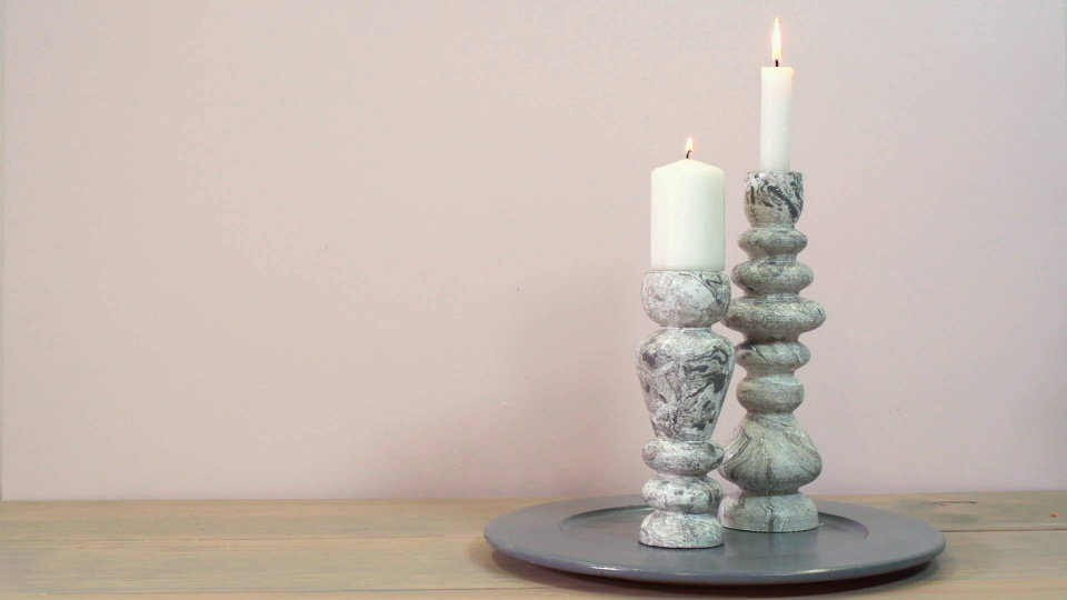 Habitat TV Video: DIY: Faux marble candle holders