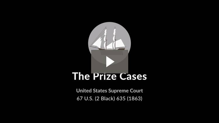 The Prize Cases