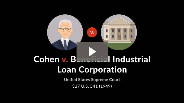 Cohen v. Beneficial Industrial Loan Corp.