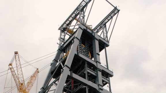 Building the Tallest Steel Headgear for the Mining Industry with Steel Services and Allied Industries
